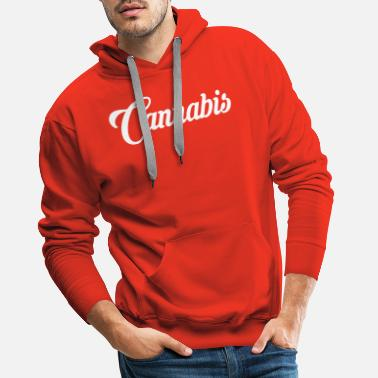 Writing cannabis-writing - Mannen premium hoodie