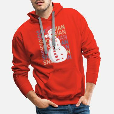 Bonhomme De Neige Bonhomme de neige bonhomme de neige bonhomme de neige - Sweat à capuche premium Homme