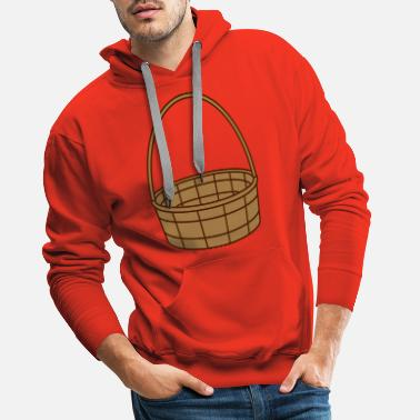 Basket basket basket easter basket gifts plaited clip - Men's Premium Hoodie