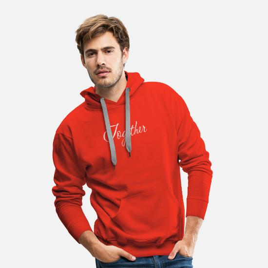 Couple Sweat-shirts - ensemble - Sweat à capuche premium Homme rouge