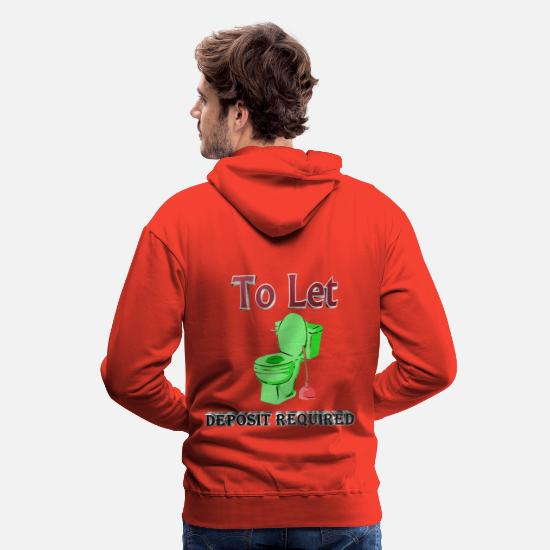 Design Hoodies & Sweatshirts - Humour To Let Design - Men's Premium Hoodie red