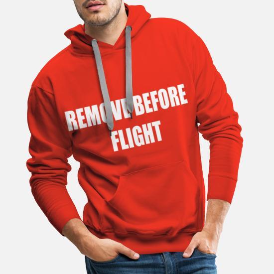 Remove before Flight Pilot t shirt aviation plane Männer