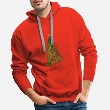 Secret Santa Colorful Christmas tree Christmas gift idea - Men's Premium Hoodie