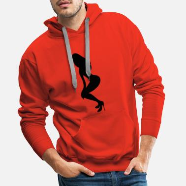 Long Underwear ۞»♥Vector Sexy Wasp-waisted woman on Stilettos♥ - Men's Premium Hoodie