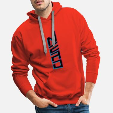 Monstre nerd vertical modèle de texte 3d cool logo geek smart - Sweat à capuche premium Homme
