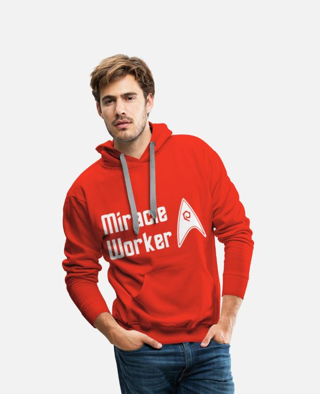 Starfleet Sweat-shirts - Star Trek Discovery Scotty Miracle Worker - Sweat à capuche premium Homme rouge