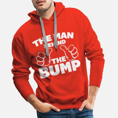 Funny Pregnancy The Man Behind The Bump - Men's Premium Hoodie