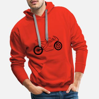 Racing motorcycle black - Men's Premium Hoodie