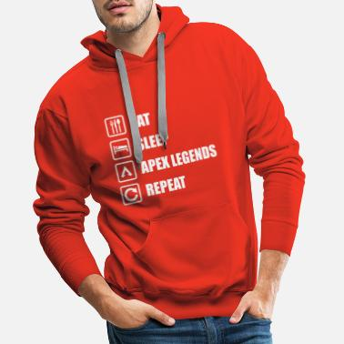 Legends MANGEZ LE SOMMEIL APEX LEGEND REPEAT | Apex Legends - Sweat à capuche premium Homme