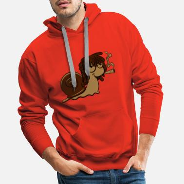Multicolored Snail funny joint - Men's Premium Hoodie
