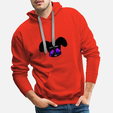 Creepybuny galaxy - Sweat à capuche premium Homme