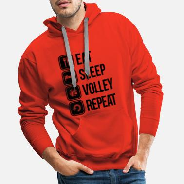 Eat eat sleep volley repeat - Mannen premium hoodie