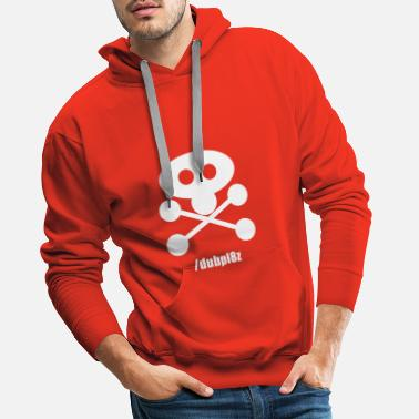 DUBPL8Z logo design with social tag - Men's Premium Hoodie