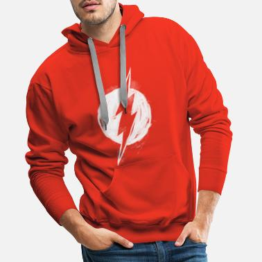 DC Comics Ligue De Justice D'Amérique Flash Logo - Sweat à capuche premium Homme