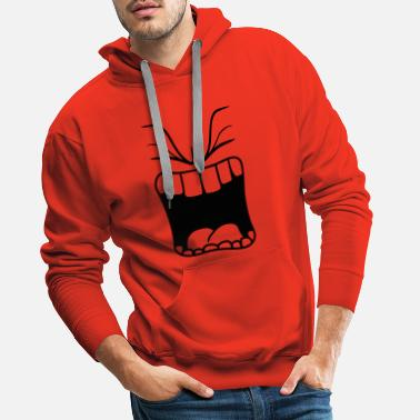 Yell wuetend bruwen sour mouth scream big mouth - Men's Premium Hoodie