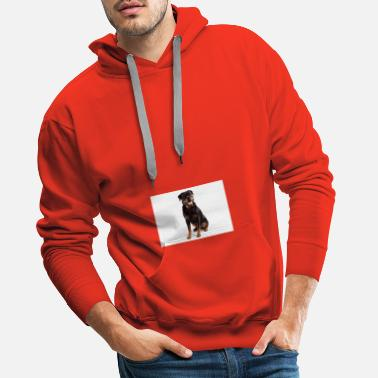 Rottweiler On White 10 - Men's Premium Hoodie