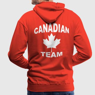 canadian team - Sweat-shirt à capuche Premium pour hommes