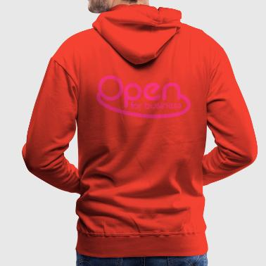 neon open for business in neon pink - Men's Premium Hoodie