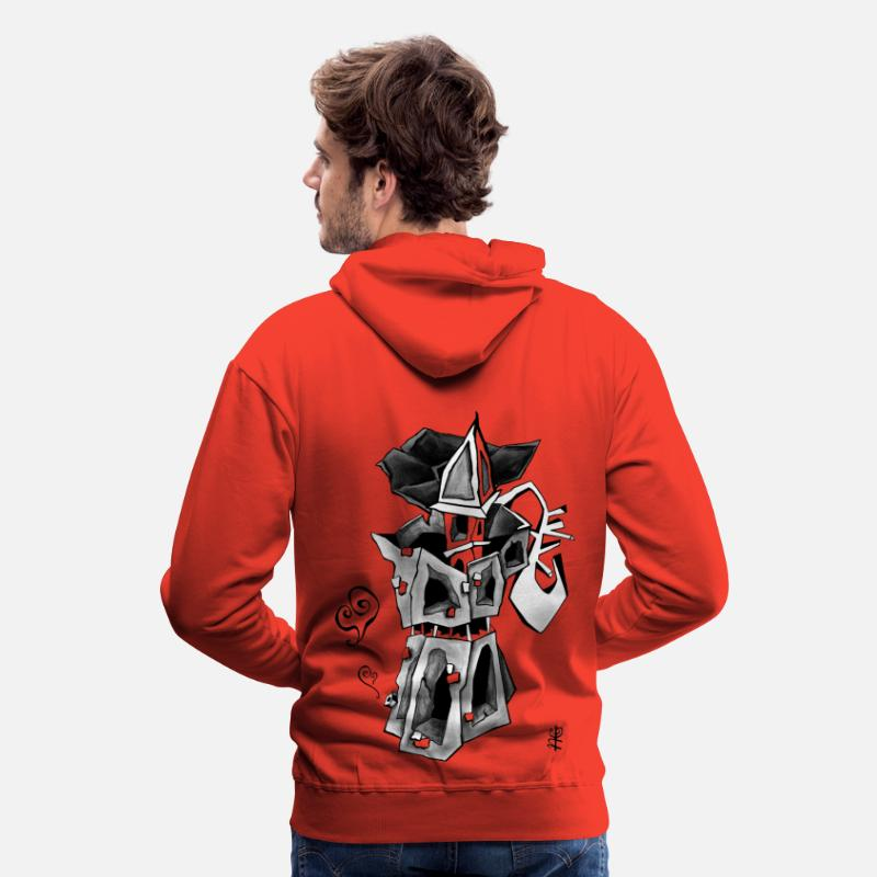 Coffee Hoodies & Sweatshirts - Moka Art Coffee Espresso Italy - Venice Draw - Men's Premium Hoodie red