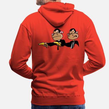 Funny &amp Monkey Pulp Funny Design for Bottles & Mugs - Men's Premium Hoodie