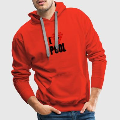 I love pool - Men's Premium Hoodie