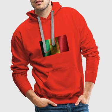 Senegal flag cool vintage used sport look - Men's Premium Hoodie