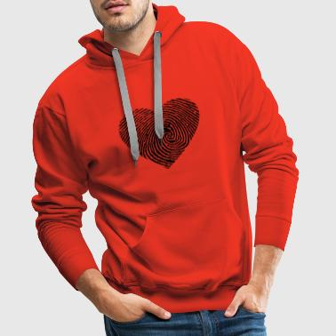 Heart from a fingerprint - Men's Premium Hoodie
