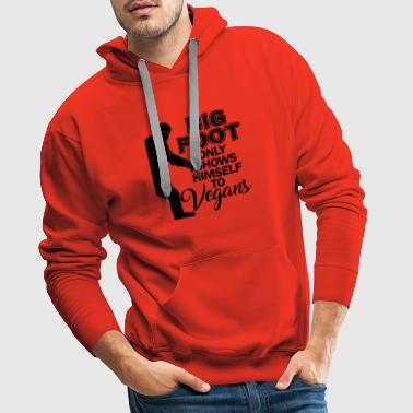 Big Foot Search Hunter Camping Monster Gift - Sudadera con capucha premium para hombre