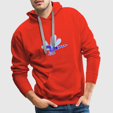 Dragonfly blue sweet stripes gift idea - Men's Premium Hoodie