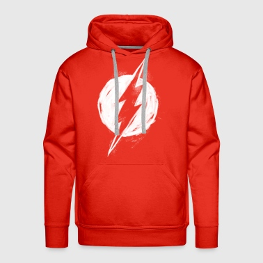 Justice League Flash Logo painted Pull  - Sweat-shirt à capuche Premium pour hommes