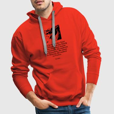 Heraclitus: War is the father of all things and - Men's Premium Hoodie