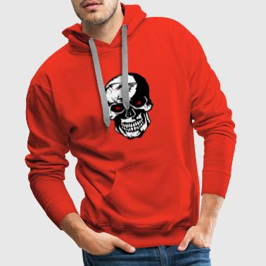 tete de mort crane dragon tribal tatouage tattoo s - Sweat-shirt à capuche Premium pour hommes