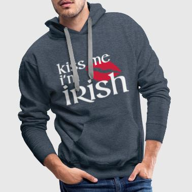 Kiss Me I'm Irish - Men's Premium Hoodie