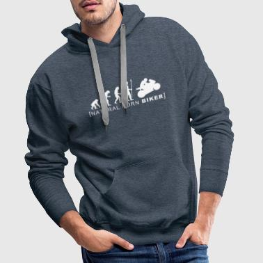natural born biker - Men's Premium Hoodie