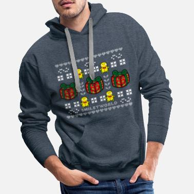 SmileyWorld Time to unwrap Presents - Men's Premium Hoodie