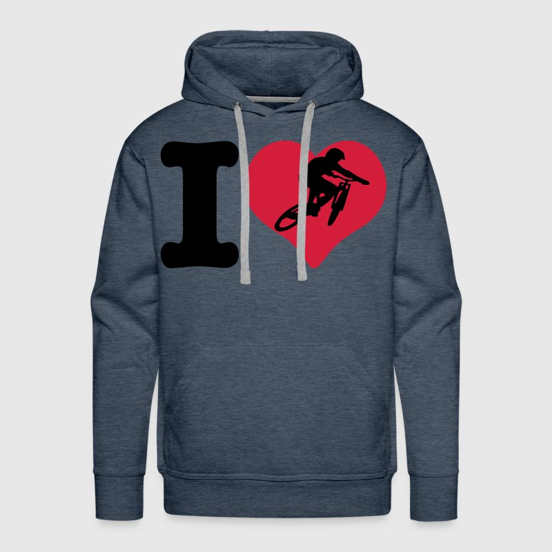 i love downhill - Men's Premium Hoodie