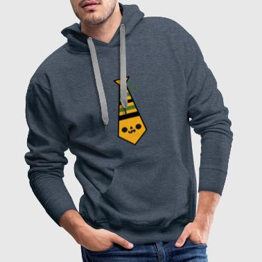 Cravate Visage d'Halloween - Sweat-shirt à capuche Premium pour hommes