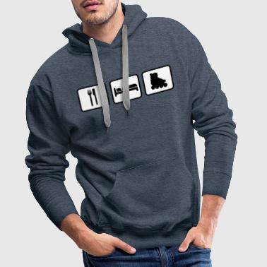 Eat Sleep Skating - Men's Premium Hoodie