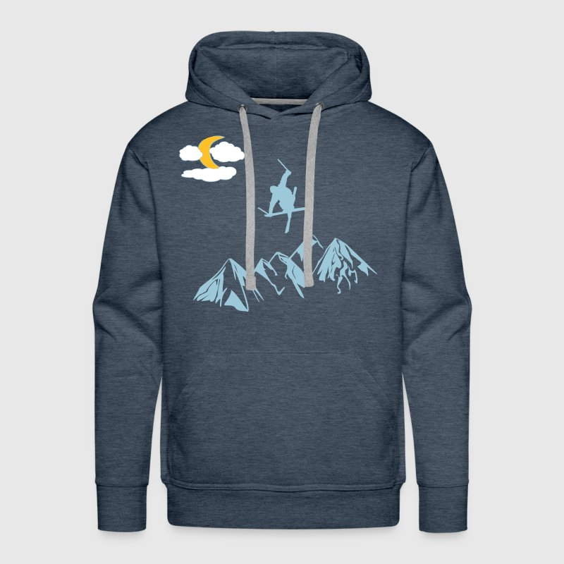 Mountain with ski freestyle - Men's Premium Hoodie