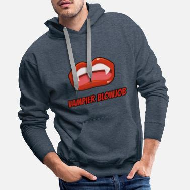 Fellation Fellation vampire - Sweat-shirt à capuche Premium pour hommes