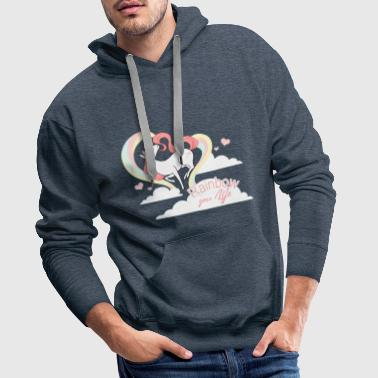 rainbow your life - Sweat-shirt à capuche Premium pour hommes