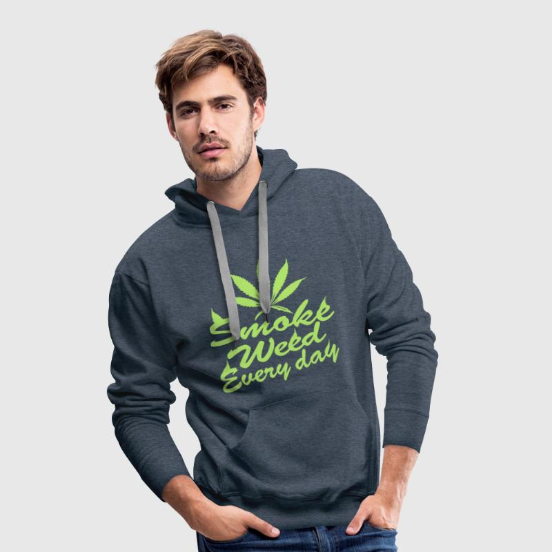 smoke weed every day - Sweat-shirt à capuche Premium pour hommes