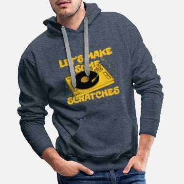 Jock DJ Turntable Scratch Hip Hop Vinyl Gift - Men's Premium Hoodie
