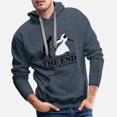 Bride And Groom Schlips JGA Game over the end Junggesellen Party - Men's Premium Hoodie