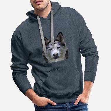 husky geometric stylish - Men's Premium Hoodie