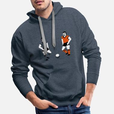 football soccer game sport fun - Men's Premium Hoodie