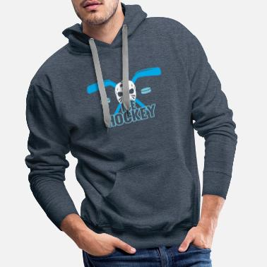 Floor Ball Hockey sur glace - Sweat-shirt à capuche Premium pour hommes