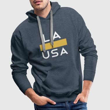 Los Angeles LA Los Angeles USA Gold White - Men's Premium Hoodie