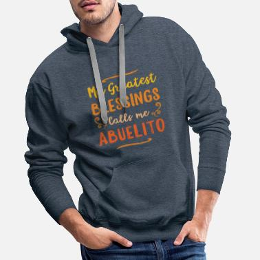 Pay Blessed Abuelo Puerto Rico Grandpa Fathers Day - Men's Premium Hoodie