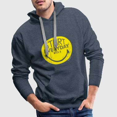 SmileyWorld Quotes Every Day A Smile - Men's Premium Hoodie